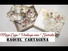 DIY TUTORIAL FÁCIL cajita secretos y flores cartonaje scrapbooking - YouTube
