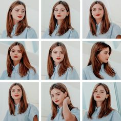 Jenna Coleman's photo-call at MIPCOM in Cannes. Jenna Coleman Hair, Jenna Coleman Style, Daily Hairstyles, Cool Hairstyles, Clara Oswald Hair, Gamine Style, I Love Girls, Crazy Hair, Celebs