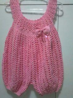 Crochet Dress Girl, Crochet Girls, Crochet Baby Clothes, Crochet For Kids, Newborn Crochet Patterns, Baby Patterns, Romper Pattern, Baby Pants, Baby Kind