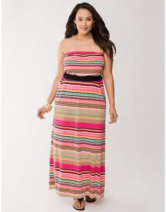 Plus Size Strapless Maxi Dress by Lane Bryant | Lane Bryant