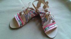 Handmade leather boho sandals