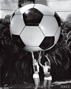 The most inspiring images from our archives, pictures celebrating the pure power of women—Sydney Leroux and Hope Solo. More on Vogue.com