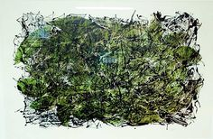 "Jean Paul Riopelle, Feuilles IV, 1967,  Lithographie, 29.5"" x 41"""