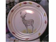 Hand painted plate, by Sue Cox.   Commissioned by local decor shop.