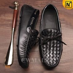 0d4fdefb48ae6 CWMALLS Men's Leather Driving Loafers CW706160 Leather driving shoes  crafted from grain calfskin leather upper decorative
