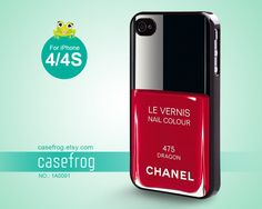 Nail Polish, Girly Make Up, Red iphone case, 475 DRAGON iphone 4s case, Case for iPhone - 1A0091. $12.99, via Etsy.