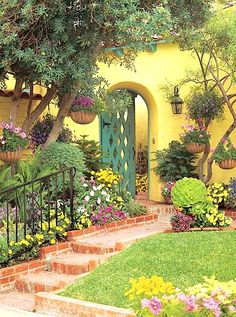 A Floral Fairy Tale! DIY Yard and Garden Enhancement Idea! See More at thefrenchinspiredroom.com