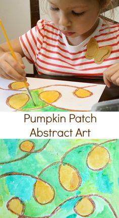 Pumpkin Patch Abstract Fall Art Activity
