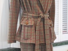 Vintage Plaid Pant Suit Size 8  $35.00   ‪#‎craftshout‬03/19