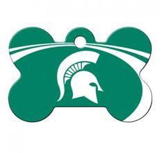 PetScribe I.D. Tag - NCAA Michigan State Spartans - Large Bone
