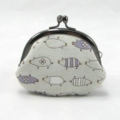 Small Coin Purse - Kawaii Pig Lavender