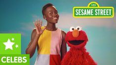 Sesame Street: Lupita Nyong'o Loves Her Skin. Elmo is with his good friend, Lupita. They are talking about all the great things about their skin. For example, Elmo's skin just happens to be very ticklish. Lupita's skin happens to be a beautiful brown color. Skin can come in all different shades and colors. Isn't skin just the best? However, ticklish or smooth or black or brown or white or tan, be sure to love the skin you are in.