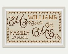 Wedding Cross Stitch Pattern - Wedding Gift - Sampler Counted Cross Stitch.  This is a digital Cross stitch pattern that you can instantly download from Etsy after purchase. Patterns include a full color chart with color symbols, a thread legend. The whole chart on one page, and also broken up into 4 pages (which makes the symbols easier to read). It also includes a full alphabet, to allow you to customise it to suit yourself.  PATTERN SPECIFICATIONS: Grid size - 159 stitches x 89stitches…