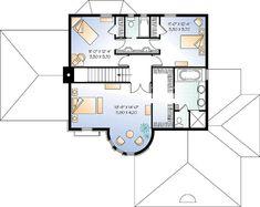 Piso Plano del segundo plan de vivienda victoriana 65354