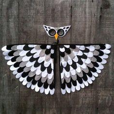 Os mais originais disfarces de carnaval reciclados owl costumes people also love these ideas snow owl magical owl costume solutioingenieria Images