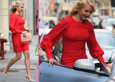 """Cameron Diaz: Ravishing in Red on """"The Other Woman"""" Set 