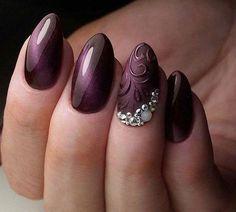 35 charming and beautiful purple nail designs - HomeLoveIn : 35 charming and beautiful purple nail designs charming purple nail designs Orange Nail Designs, Short Nail Designs, Cool Nail Designs, Trendy Nails, Cute Nails, My Nails, Perfect Nails, Gorgeous Nails, Purple Nails