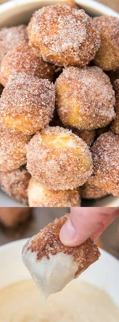 These Cinnamon Sugar Soft Pretzel Bites from Like Mother Like Daughter are perfectly soft inside with a chewy pretzel crust. They get coated in a delicious cinnamon sugar mixture and served with the most amazing warm cream cheese dip!