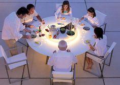 El ments mobiliers home element furniture on pinterest - Plateau tournant table ...