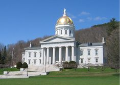"Photo of the Vermont State Capitol building in Montpelier. Credit: Jared C. Benedict; Wikimedia Commons. Read more on the GenealogyBank blog: ""Vermont Archives: 88 Newspapers for Genealogy Research."" http://blog.genealogybank.com/vermont-archives-88-newspapers-for-genealogy-research.html"