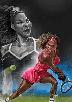 Celebrity Caricatures | Serena Williams