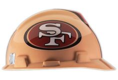 39bd8ec8430ebc MSA 818409 Adult's San Francisco 49ers Football Logo Hard Hat One Size Hard  Hats, San