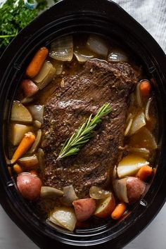 Classic Sunday Pot Roast is an easy to make comfort food that is hearty, filling, and can easily feed the whole family. This recipe will work for a classic oven braise as well as in a slow cooker or Instant Pot. Ingredients 1 3 to 5 pound beef roast chuck Pot Roast Recipes, Meat Recipes, Cooking Recipes, Game Recipes, Pot Roast Sauce Recipe, Savory Pot Roast Recipe, Healthy Pot Roast, Crockpot Beef Recipes, Crock Pot Beef