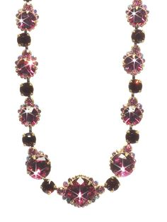 Crystal Strand Necklace in Pink Orchid by Sorrelli  (http://www.sorrelli.com/products/NCG3AGPOR)