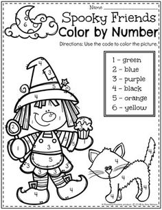 Halloween Color by Number Preschool Worksheet Looking for fun Preschool Halloween Activities? This set of fun Hands-on Centers and Printables are the perfect addition to your Preschool Halloween Theme. Halloween Theme Preschool, Halloween Worksheets, Theme Halloween, Halloween Activities, Autumn Activities, Preschool Activities, Preschool Age, Numbers Preschool, Preschool Worksheets