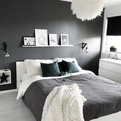 Bedroom Design Ideas Budget Grey And White Bedroom Ideas 2020 # Modern Bedroom Decor, Bedroom Inspo, Design Bedroom, Bedroom Ideas Grey, Adult Bedroom Ideas, Bedroom Colors, Awesome Bedrooms, Minimalist Bedroom, White Bedroom