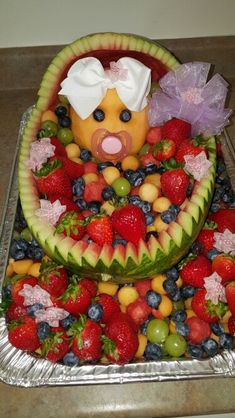 Baby shower food for girls creative fruit salads ideas for 2019 - . - Baby shower food for girls creative fruit salads ideas for 2019 – # Baby shower food - Baby Shower Fruit Tray, Baby Shower Food For Girl, Baby Fruit, Baby Shower Fun, Baby Shower Gifts, Baby Showers, Watermelon Baby Carriage, Baby Shower Watermelon, Fruit Baby Carriage
