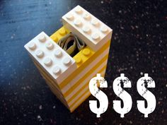 Make a gift box out of legos for cash or a small present! You can add ribbons after you put the final brick in place.