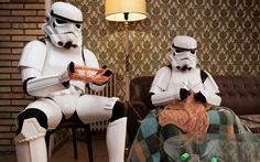 """""""The Other Side,"""" by Jorge Pérez Higuera - a new series of photos by Spanish photographer Jorge Perez Higuera (http://www.perezhiguera.com/the-other-side) that takes stormtroopers out of context & places them in mundane scenes of everyday modern life. 