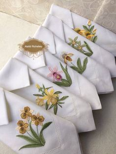 Hand Embroidery Stitches, Rococo, Decoration, Napkins, Crochet, Tableware, Crafts, Boutique, Design