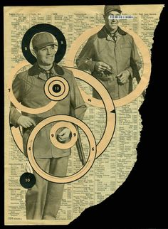 """On the Hunt…brought to you by Sears"" cory peeke collage 2013 My contribution to Laura Tringali Holmes' Target Practice collaboration."