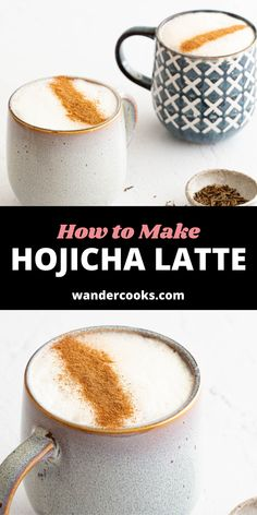 A light yet decadent drink, this creamy hojicha latte is for those who enjoy a hot beverage without the caffeine. Made from Japanese roasted green tea leaves, this latte is sure to give you tones of caramel, smoky nuttiness and a hint of sweetness. Healthy Asian Recipes, Asian Snacks, Asian Desserts, Sweet Desserts, Vegetarian Recipes, Easy Weeknight Meals, Easy Meals, Green Tea Latte, Cook At Home