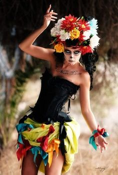 catrinas face painting - Google Search
