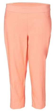"Unique, Pretty Colors are the highlight of the SlimSation Ladies golf collection just like this Sherbet SPECIAL SlimSation Ladies 21"" Inseam Pull On Golf Capri!"