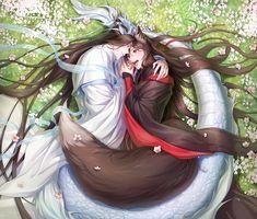 Anime Fantasy, Fantasy Art, Anime Boy Long Hair, Hot Anime Guys, The Grandmaster, Anime Angel, Cute Gay, Fujoshi, Manhwa