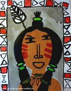 American Indian Art, Native American Art, Art Indien, Thanksgiving Art, 4th Grade Art, Red Indian, Art Lessons Elementary, Autumn Art, Early Education