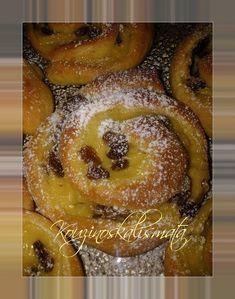 Sweet Buns, Sweet Pie, Greek Desserts, Greek Recipes, Mediterranean Breakfast, Mini Cheesecakes, Food To Make, Cake Recipes, Bakery