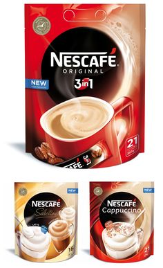 New Nescafe logo and packaging