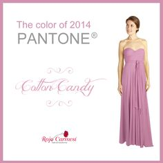 Pantone has chosen the color of 2014. That is our Cotton Candy. Check our convertible dresses out on www.rojocarmesi.com #wedding #boda #bridesmaid #dama de honor #damasdehonor