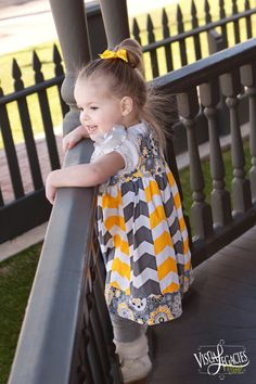 LOVE Yellow and Gray Chevron stripwork little by FrayBabyBibsandMore, $28.00