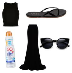 Day at the beach by gottalottaprada on Polyvore featuring polyvore, fashion, style, Naeem Khan, Tkees, Kiss My Face and clothing