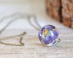 Resina gioielli orb chiaro sfera conserve-Collana di EightAcorns