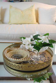 Vignette - Floating gardenia and Gullah sweet grass basket. <3