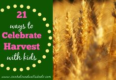 Celebrating Harvest - 21 Activities for Children to Explore {from @sunhatswellies}
