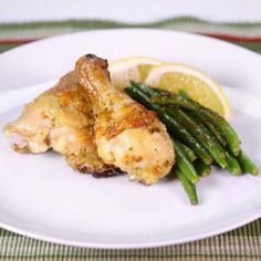Sage, Lemon Chicken with Buttered Green Beans Recipe