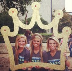 Socials - Use a crown cut out for Bid Day pictures, as part of sisterhood events or at socials in a photo-booth.